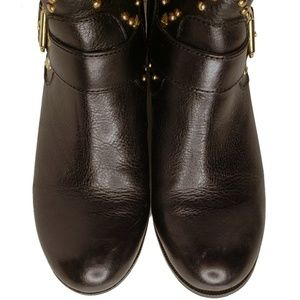 INC International Concepts Shoes - 😎 I.N.C. 😎 GOLD STUDDED WENDA ANKLE BOOTS NWOT
